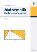 Mathematik f  r die ersten Semester