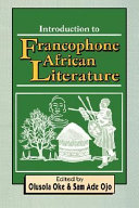 Introduction to Francophone African Literature This Is A Lively Accomplished