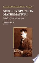 Sobolev Spaces In Mathematics I book