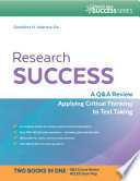 Research Success A Q A Review Applying Critical Thinking to Test Taking