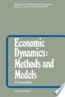 Economic Dynamics  Methods and Models