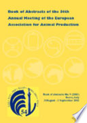 Book Of Abstracts Of The 54th Annual Meeting Of The European Association For Animal Production