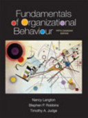 Fundamentals of Organizational Behaviour  Fifth Canadian Edition  Loose Leaf Version