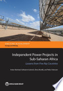 Independent Power Projects In Sub Saharan Africa