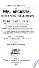 lois, decrets