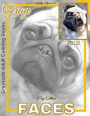 Grayscale Adult Coloring Books Gray Faces Vol  5