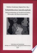 Subjekttheorien interdisziplinär