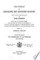 Grundrisz zur geschichte der deutschen dictung, aus den quellen