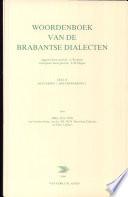 Woordenboek van de Brabantse dialecten Deel II, Aflevering 7, Houtbewerking 1