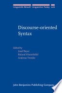 Discourse oriented Syntax