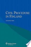 Civil Procedure in Finland