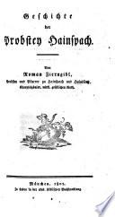 Geschichte der Probstei Hainspach