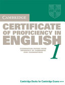 Cambridge Certificate of Proficiency in English 1 Student's Book