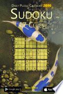 Daily Sudoku 17 Clues Puzzle Calendar 2016