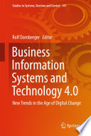 Business Information Systems And Technology 4 0