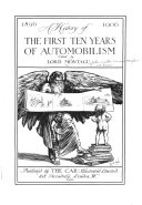 A History Of The First Ten Years Of Automobilism