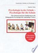 Psychologie in der Schule  Psychologie f  r die Schule