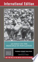 An Essay on the Principle of Population  Norton Critical Editions