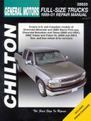 General Motors Full Size Trucks 99 01 Repair Manual