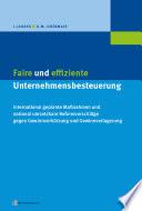 Faire und effiziente Unternehmensbesteuerung