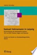 Samuel Hahnemann in Leipzig