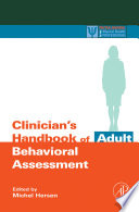 Clinician s Handbook of Adult Behavioral Assessment