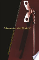 Do Economists Make Markets