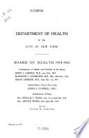 Collected Studies from the Bureau of Laboratories  Department of Health  City of New York