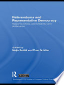 Referendums And Representative Democracy book