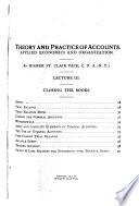 Accounting Lectures, 1911-14