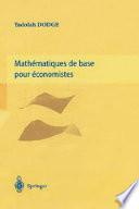 illustration du livre Mathématiques de base pour économistes