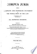 1921 Annotations to Corpus Juris