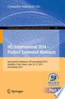 HCI International 2014   Posters  Extended Abstracts