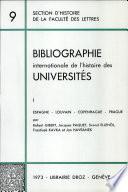 Bibliographie Internationale de l Histoire des Universites