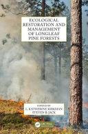 Ecological Restoration Of Longleaf Pine book