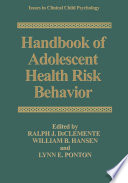 Handbook of Adolescent Health Risk Behavior Social Cultural And Cognitive Development Often Characterized