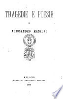 Tragedie e poesie di Alessandro Manzoni