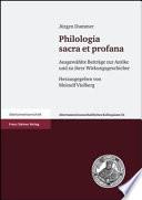 Philologia sacra et profana