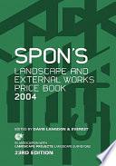 Spon s Landscape and External Works Price