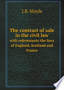 The Contract of Sale in the Civil Law