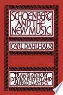 Schoenberg And The New Music book