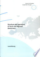 Structure and Operation of Local and Regional Democracy