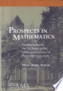 Prospects In Mathematics book