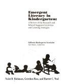 Emergent Literacy In Kindergarten