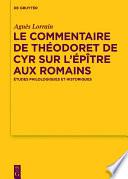 illustration du livre Le Commentaire de Théodoret de Cyr sur l'Épître aux Romains