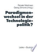 Paradigmenwechsel in der Technologiepolitik?