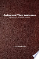 Judges And Their Audiences : offers a new perspective on...