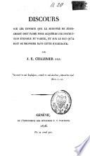 Discours adressé aux étudians en théologie le 6 novembre 1826