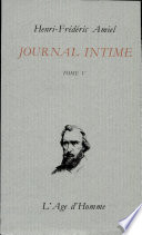 Journal intime tome 5