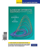 Elementary Differential Equations with Boundary Value Problems  Books a la Carte Edition
